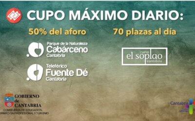Entradas Gratuitas de Cabárceno, Cuevas de EL Soplao y Teleférico de Picos de Europa (Fuente Dé)